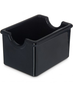 Carlisle 455003 Black Sugar Caddy with 20 Packet Capacity
