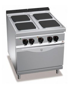 Berto's E9PQ4+FE Electric 4 Square Hot Plate With Oven