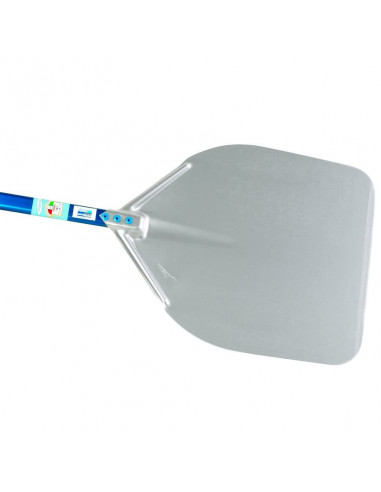 Gi-Metal A-50R-60 Aluminum rectangular pizza peel 50x50cm. Handle 60cm