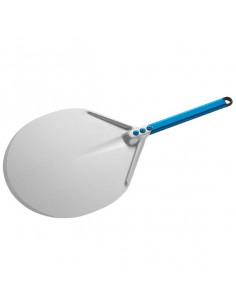 Gi-Metal A-37C Aluminum round pizza peel  36cm short handle