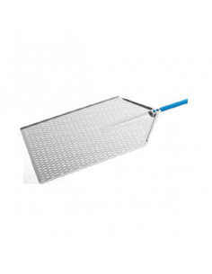 "Gi-Metal AM-3060F Aluminum perforated ""Metro"" pizza peel 30x60cm"