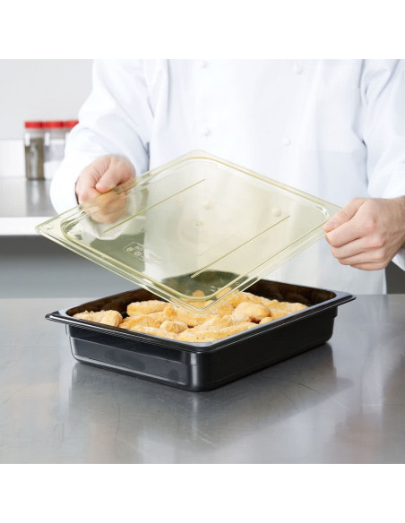 Cambro 20HPC150 High Heat 1/2 size Amber Flat lid