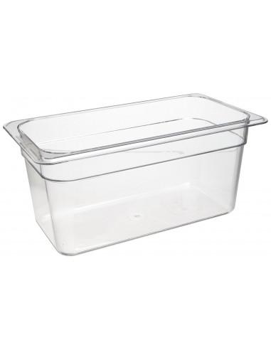 """Cambro 36CW135 Camwear 1/3 Size Clear Food Pan 6"""" Deep"""