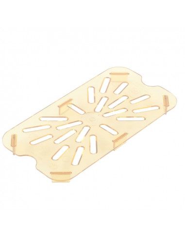 Cambro 40HPD150 1/4 Size Amber High Heat Drain Tray