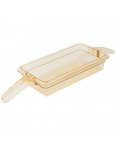Cambro 32HP2H150 H-Pan 1/3 Size Food Pan with Double Handle 6cm Deep