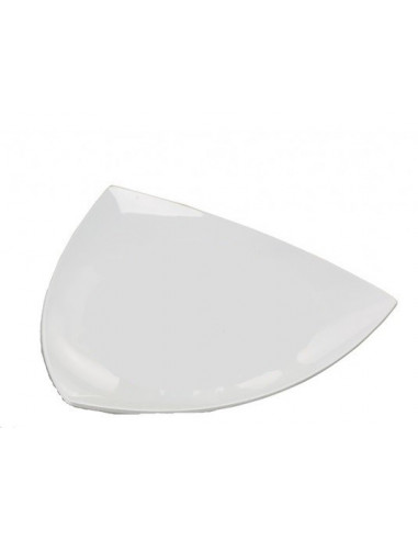 AM Triangular Concave Melamine Platter