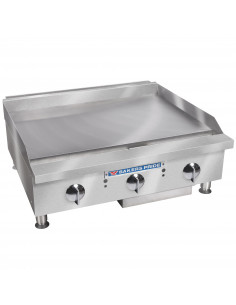 """Bakers Pride BPXP-GGT-36i Thermostatic Control Countertop GAS Griddle 36"""""""