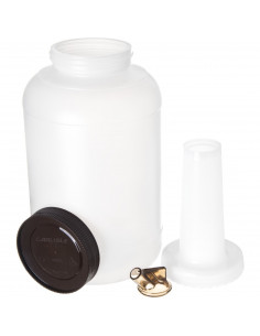Carlisle PS801B00 Store and Pour 1 Gallon White Container with Colored Spout and Cap